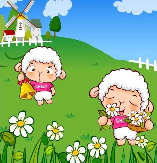 卡通 卡通背景 卡通动物 卡通图片 幼儿园展板 早教 做早操